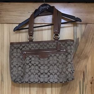 Brown/Tan Large Coach Purse